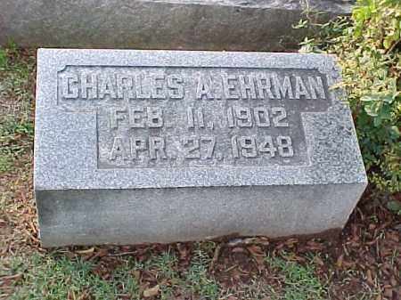 EHRMAN, CHARLES A - Pulaski County, Arkansas | CHARLES A EHRMAN - Arkansas Gravestone Photos