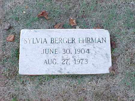BERGER EHRMAN, SYLVIA - Pulaski County, Arkansas | SYLVIA BERGER EHRMAN - Arkansas Gravestone Photos