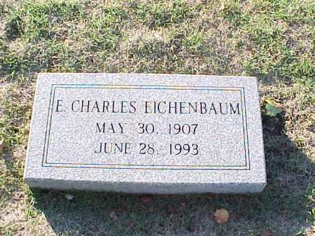 EICHENBAUM, E CHARLES - Pulaski County, Arkansas | E CHARLES EICHENBAUM - Arkansas Gravestone Photos