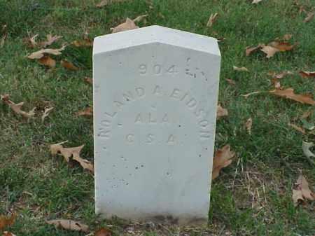 EIDSON (VETERAN CSA), ROLAND A - Pulaski County, Arkansas | ROLAND A EIDSON (VETERAN CSA) - Arkansas Gravestone Photos