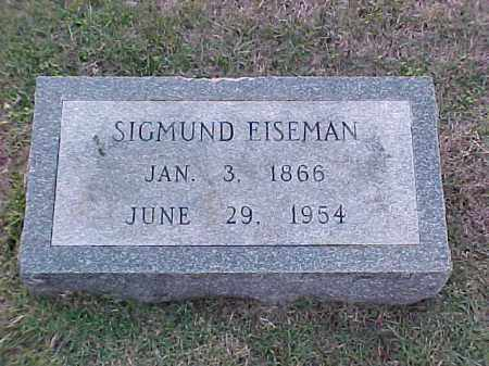 EISEMAN, SIGMUND - Pulaski County, Arkansas | SIGMUND EISEMAN - Arkansas Gravestone Photos