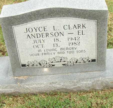 CLARK ANDERSON - EL, JOYCE L. - Pulaski County, Arkansas | JOYCE L. CLARK ANDERSON - EL - Arkansas Gravestone Photos