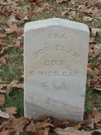 ELAM (VETERAN CSA), JOSEPH - Pulaski County, Arkansas | JOSEPH ELAM (VETERAN CSA) - Arkansas Gravestone Photos