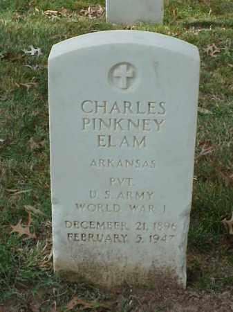 ELAM (VETERAN WWI), CHARLES PINKNEY - Pulaski County, Arkansas | CHARLES PINKNEY ELAM (VETERAN WWI) - Arkansas Gravestone Photos