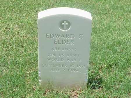 ELDER (VETERAN WWI), EDWARD C - Pulaski County, Arkansas | EDWARD C ELDER (VETERAN WWI) - Arkansas Gravestone Photos