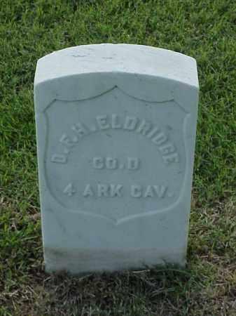 ELDRIDGE (VETERAN UNION), D F H - Pulaski County, Arkansas | D F H ELDRIDGE (VETERAN UNION) - Arkansas Gravestone Photos