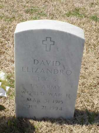 ELIZANDRO (VETERAN WWII), DAVID - Pulaski County, Arkansas | DAVID ELIZANDRO (VETERAN WWII) - Arkansas Gravestone Photos