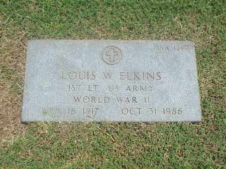 ELKINS (VETERAN WWII), LOUIS W - Pulaski County, Arkansas | LOUIS W ELKINS (VETERAN WWII) - Arkansas Gravestone Photos