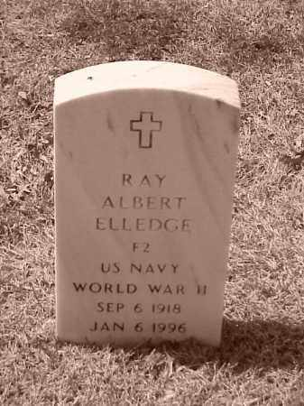 ELLEDGE (VETERAN WWII), RAY ALBERT - Pulaski County, Arkansas | RAY ALBERT ELLEDGE (VETERAN WWII) - Arkansas Gravestone Photos