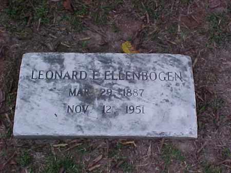 ELLENBOGEN, LEONARD E - Pulaski County, Arkansas | LEONARD E ELLENBOGEN - Arkansas Gravestone Photos