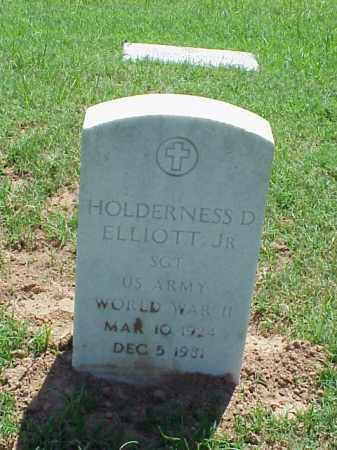 ELLIOTT, JR (VETERAN WWII), HOLDERNESS D - Pulaski County, Arkansas | HOLDERNESS D ELLIOTT, JR (VETERAN WWII) - Arkansas Gravestone Photos