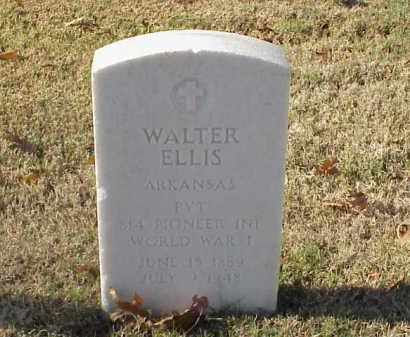 ELLIS (VETERAN WWI), WALTER - Pulaski County, Arkansas | WALTER ELLIS (VETERAN WWI) - Arkansas Gravestone Photos