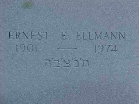 ELLMANN, ERNEST E - Pulaski County, Arkansas | ERNEST E ELLMANN - Arkansas Gravestone Photos