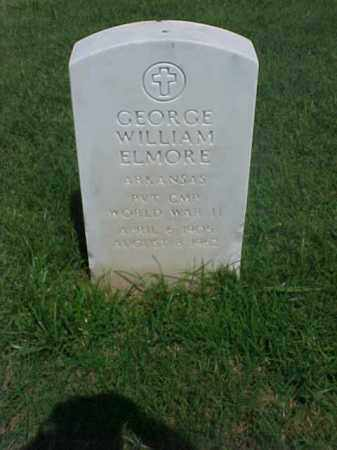 ELMORE (VETERAN WWII), GEORGE WILLIAM - Pulaski County, Arkansas | GEORGE WILLIAM ELMORE (VETERAN WWII) - Arkansas Gravestone Photos