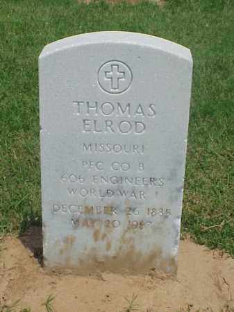 ELROD (VETERAN WWI), THOMAS - Pulaski County, Arkansas | THOMAS ELROD (VETERAN WWI) - Arkansas Gravestone Photos