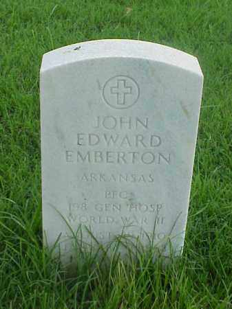EMBERTON (VETERAN WWII), JOHN EDWARD - Pulaski County, Arkansas | JOHN EDWARD EMBERTON (VETERAN WWII) - Arkansas Gravestone Photos