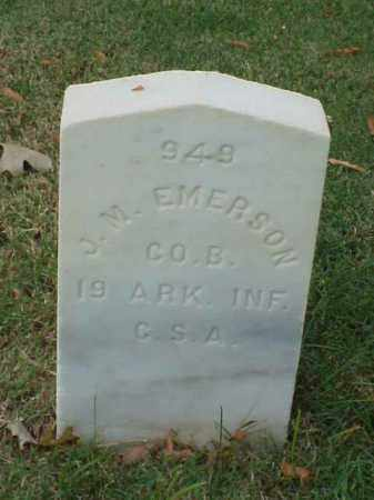EMERSON (VETERAN CSA), J M - Pulaski County, Arkansas | J M EMERSON (VETERAN CSA) - Arkansas Gravestone Photos