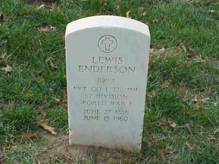 ENDERSON (VETERAN WWI), LEWIS - Pulaski County, Arkansas | LEWIS ENDERSON (VETERAN WWI) - Arkansas Gravestone Photos