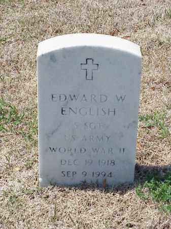 ENGLISH (VETERAN WWII), EDWARD W - Pulaski County, Arkansas | EDWARD W ENGLISH (VETERAN WWII) - Arkansas Gravestone Photos
