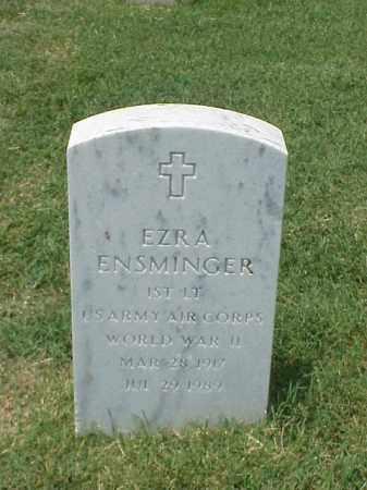 ENSMINGER (VETERAN WWII), EZRA - Pulaski County, Arkansas | EZRA ENSMINGER (VETERAN WWII) - Arkansas Gravestone Photos