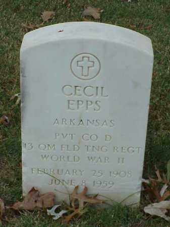 EPPS (VETERAN WWII), CECIL - Pulaski County, Arkansas | CECIL EPPS (VETERAN WWII) - Arkansas Gravestone Photos