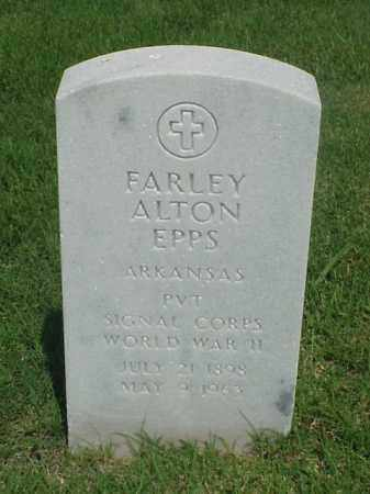EPPS (VETERAN WWII), FARLEY ALTON - Pulaski County, Arkansas | FARLEY ALTON EPPS (VETERAN WWII) - Arkansas Gravestone Photos