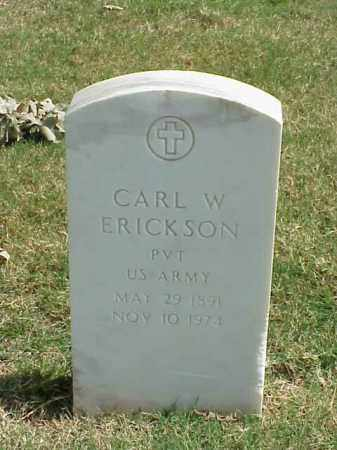 ERICKSON (VETERAN WWI), CARL W - Pulaski County, Arkansas | CARL W ERICKSON (VETERAN WWI) - Arkansas Gravestone Photos