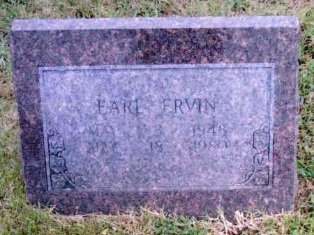 ERVIN, EARL - Pulaski County, Arkansas | EARL ERVIN - Arkansas Gravestone Photos