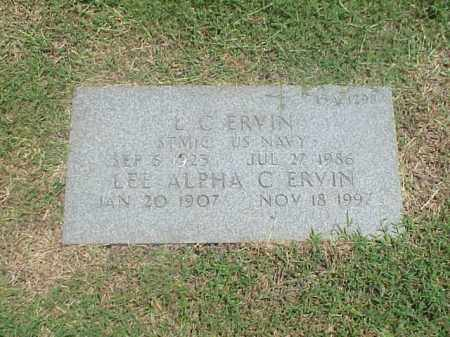 ERVIN, LEE APHA C - Pulaski County, Arkansas | LEE APHA C ERVIN - Arkansas Gravestone Photos
