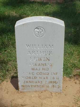 ERWIN (VETERAN 2 WARS), WILLIAM ARTHUR - Pulaski County, Arkansas | WILLIAM ARTHUR ERWIN (VETERAN 2 WARS) - Arkansas Gravestone Photos