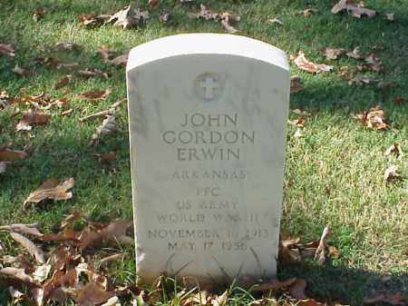 ERWIN (VETERAN WWII), JOHN GORDON - Pulaski County, Arkansas | JOHN GORDON ERWIN (VETERAN WWII) - Arkansas Gravestone Photos