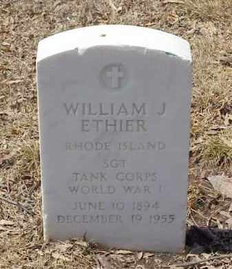 ETHIER  (VETERAN WWI), WILLIAM J - Pulaski County, Arkansas | WILLIAM J ETHIER  (VETERAN WWI) - Arkansas Gravestone Photos