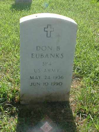 EUBANKS (VETERAN), DON B - Pulaski County, Arkansas | DON B EUBANKS (VETERAN) - Arkansas Gravestone Photos