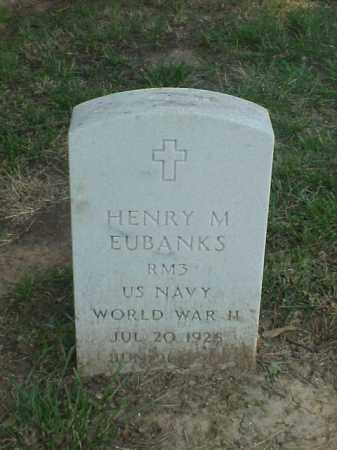 EUBANKS (VETERAN WWII), HENRY M - Pulaski County, Arkansas | HENRY M EUBANKS (VETERAN WWII) - Arkansas Gravestone Photos