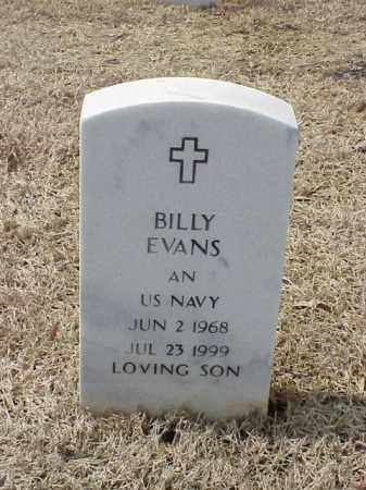 EVANS  (VETERAN), BILLY - Pulaski County, Arkansas | BILLY EVANS  (VETERAN) - Arkansas Gravestone Photos