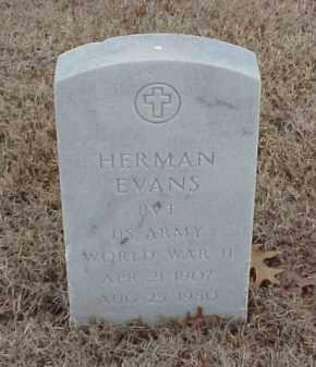 EVANS  (VETERAN WWII), HERMAN - Pulaski County, Arkansas | HERMAN EVANS  (VETERAN WWII) - Arkansas Gravestone Photos