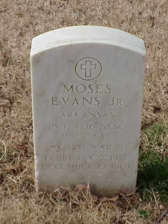 EVANS, JR (VETERAN WWII), MOSES - Pulaski County, Arkansas | MOSES EVANS, JR (VETERAN WWII) - Arkansas Gravestone Photos