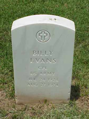 EVANS (VETERAN KOR), BILLY - Pulaski County, Arkansas | BILLY EVANS (VETERAN KOR) - Arkansas Gravestone Photos