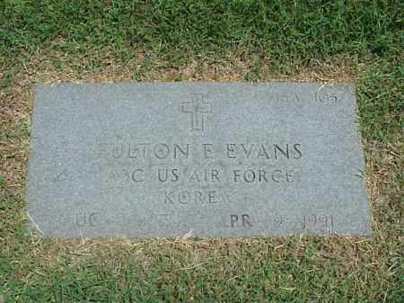 EVANS (VETERAN KOR), FULTON E - Pulaski County, Arkansas | FULTON E EVANS (VETERAN KOR) - Arkansas Gravestone Photos