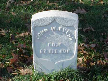 EVANS (VETERAN UNION), JOHN W - Pulaski County, Arkansas | JOHN W EVANS (VETERAN UNION) - Arkansas Gravestone Photos