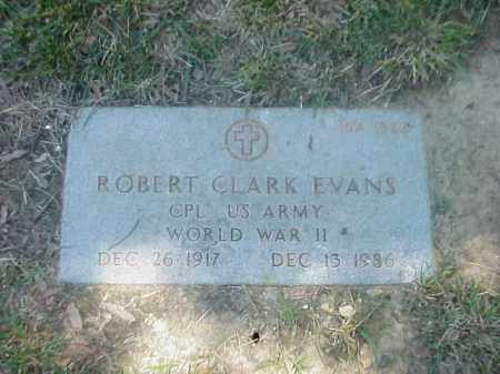 EVANS (VETERAN WWI), ROBERT CLARK - Pulaski County, Arkansas | ROBERT CLARK EVANS (VETERAN WWI) - Arkansas Gravestone Photos