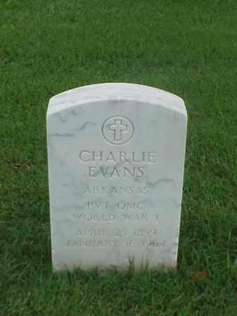 EVANS (VETERAN WWI), CHARLIE - Pulaski County, Arkansas | CHARLIE EVANS (VETERAN WWI) - Arkansas Gravestone Photos