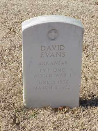EVANS (VETERAN WWI), DAVID - Pulaski County, Arkansas | DAVID EVANS (VETERAN WWI) - Arkansas Gravestone Photos