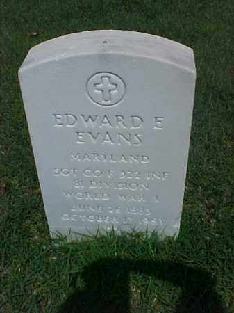EVANS (VETERAN WWI), EDWARD E - Pulaski County, Arkansas | EDWARD E EVANS (VETERAN WWI) - Arkansas Gravestone Photos