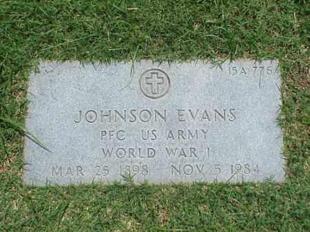 EVANS (VETERAN WWI), JOHNSON - Pulaski County, Arkansas   JOHNSON EVANS (VETERAN WWI) - Arkansas Gravestone Photos