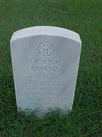 EVANS (VETERAN WWII), FRANK - Pulaski County, Arkansas | FRANK EVANS (VETERAN WWII) - Arkansas Gravestone Photos