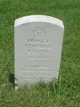 EVANS (VETERAN WWII), PRINCE EDWARD - Pulaski County, Arkansas | PRINCE EDWARD EVANS (VETERAN WWII) - Arkansas Gravestone Photos