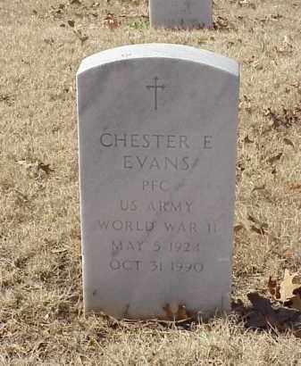 EVANS (VETERAN WWII), CHESTER E - Pulaski County, Arkansas | CHESTER E EVANS (VETERAN WWII) - Arkansas Gravestone Photos