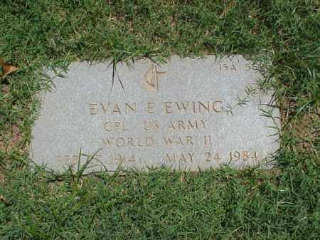 EWING (VETERAN WWII), EVAN E - Pulaski County, Arkansas | EVAN E EWING (VETERAN WWII) - Arkansas Gravestone Photos