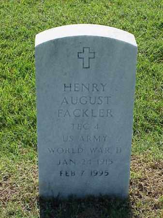 FACKLER (VETERAN WWII), HENRY AUGUST - Pulaski County, Arkansas | HENRY AUGUST FACKLER (VETERAN WWII) - Arkansas Gravestone Photos